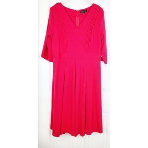 NWT eloquii v neck hot pink planks dress size 14